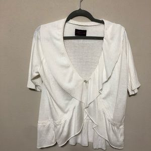 Torrid White Sweater Cardigan Sz 1